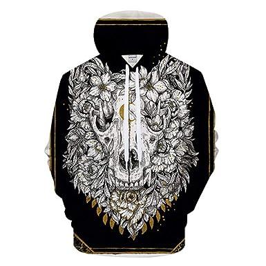 eadc5700a Mens Cool 3D Print Hoodies Men Casual Sweatshirt Hooded Tracksuit Pullover  Hoodie Coat Fashion Outdoor Tops