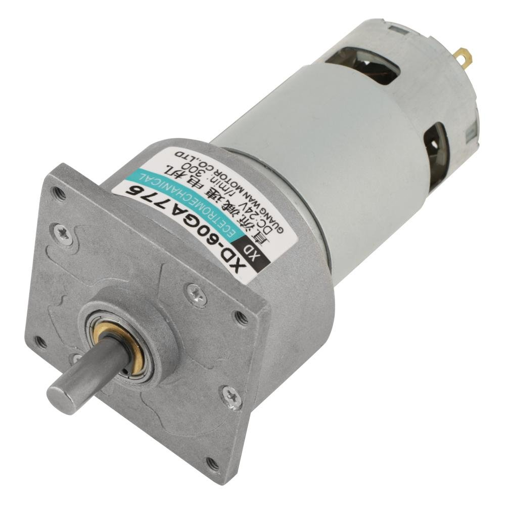 DC 12//24V 35W Adjustable Micro Speed Reducer Gear Motor CW//CCW Mini High Torque Speed Reduction Gearbox 12V 50RPM