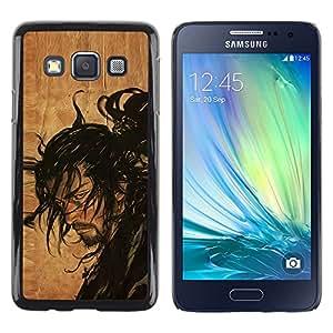 Design for Girls Plastic Cover Case FOR Samsung Galaxy A3 Samurai Japanese Warrior OBBA