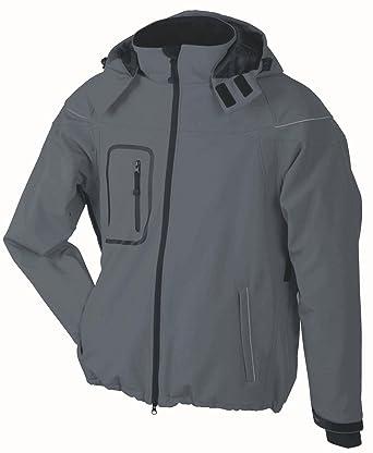James /& Nicholson Herren Softshelljacke Gefütterte Softshell Wintersport Jacke