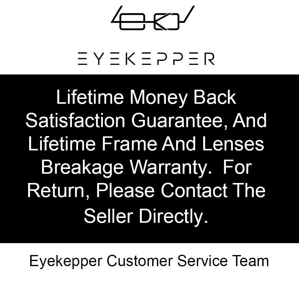 Eyekepper Spring Scharniere Klassische Retro-Stil Computer Lesebrillen Bernstein get/önte Objektive, schwarz +4.0