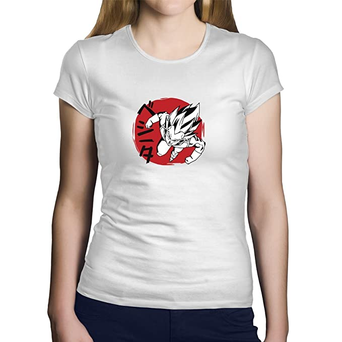 Camiseta Vegeta. Una Camiseta de Mujer con Vegeta de Dragon ...
