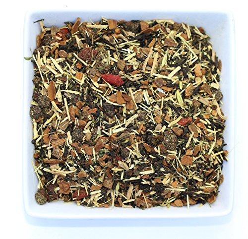 Tealyra - Keep Running Pu'erh - Cinnamon Goji - Nettle - Wellness Pu-erh Loose Leaf Tea Blend - Bold Caffeine - All Natural - 112g (4-ounce) - Going Goji Berry