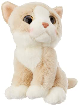 E-Chariot Soft Toys Wild Watchers Cat Beige Plush Stuffed Animal Cuddlekins by Wild Republic (88807) 7 Inches