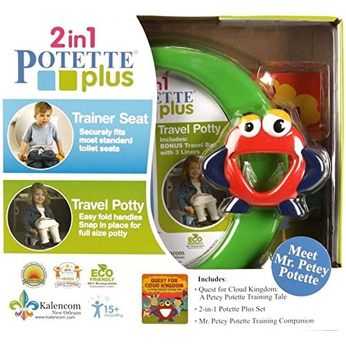 Potette Plus Potty Training Seat Toddler Travel Toilet Chair...