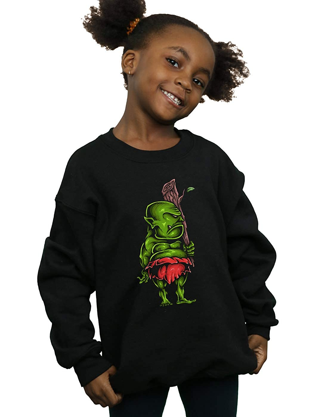 Absolute Cult Drewbacca Girls Green Ogre Sweatshirt