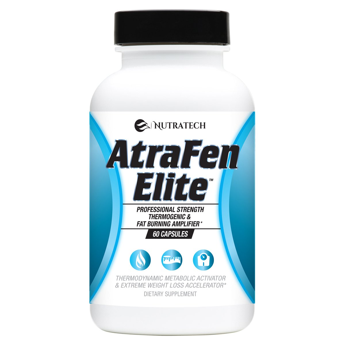 Atrafen Elite - Professional Formula Appetite Suppressant Fat Burner Diet Pill and Thermogenic for Fast Weight Loss. Works Great for Those on Keto Diets. 60 Count. by Atrafen