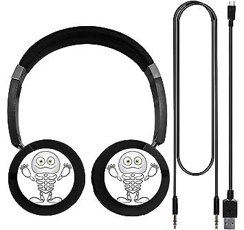 Esqueleto calavera inalámbrico Bluetooth auriculares Música Moda Auricular con micrófono juego auriculares con micrófono: Amazon.es: Electrónica