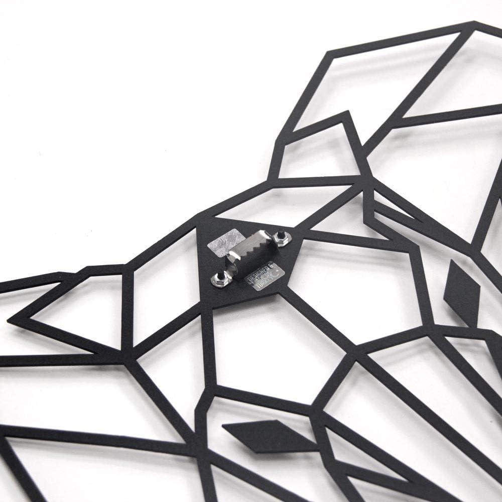 75cm x 90cm Elefante Geometrico da Parete in Metallo di Hoagard Elephant Metal Wall Art by Hoagard Arte Geometrica Della Parete Del Metallo /& Decorazione Murale