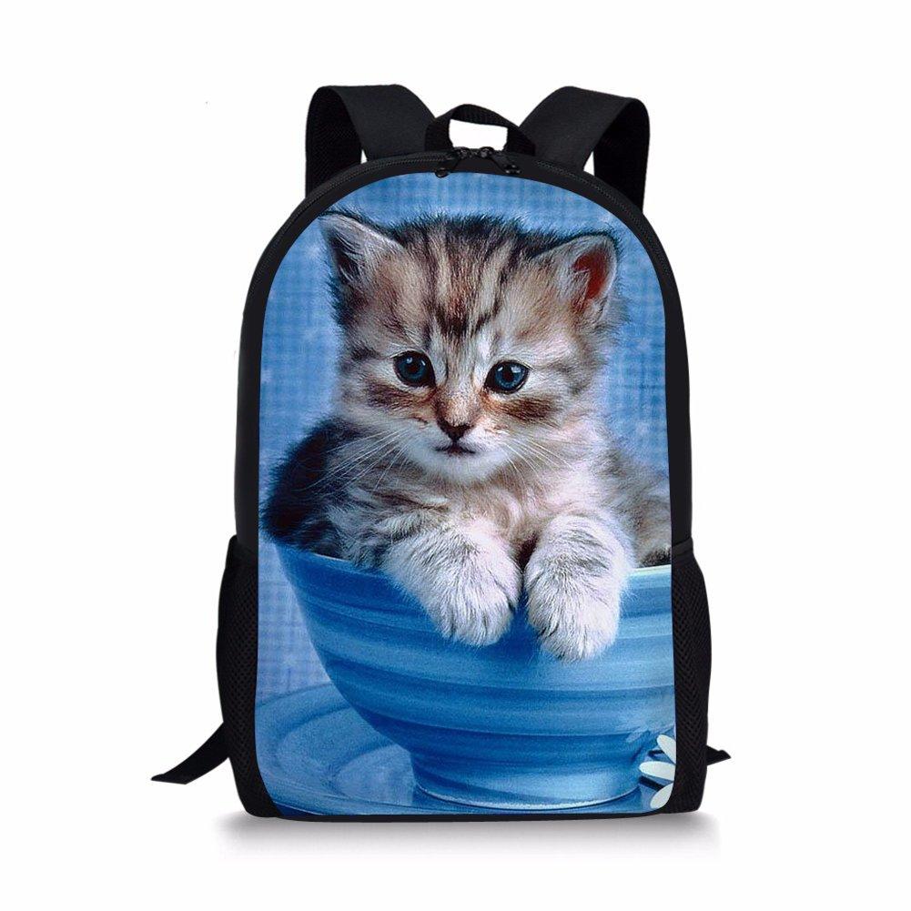 9ba9e6e07d7b Instantarts Cute Cat Panda Print Kids School Travel Backpack Shoulder Book  Bags
