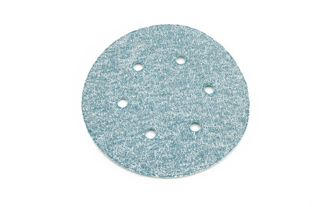 6 by 6 Hole 6 by 6 Hole Sungold Abrasives 05862 Eclipse Film 36 Grit Hook /& Loop Aluminum Oxide Stearated Sanding Discs 25-Pack