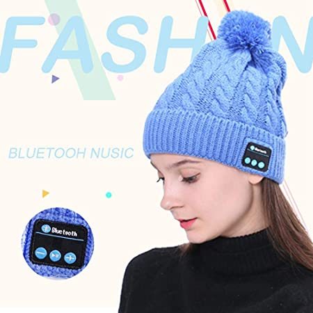 HD Stereo Bluetooth 4.2 Smart Wireless Headphone Musical Knit Cap with Detachable Speakers /& Microphone leegoal Bluetooth Beanie Hat Winter Outdoor Sport Music Beanie for Women Men
