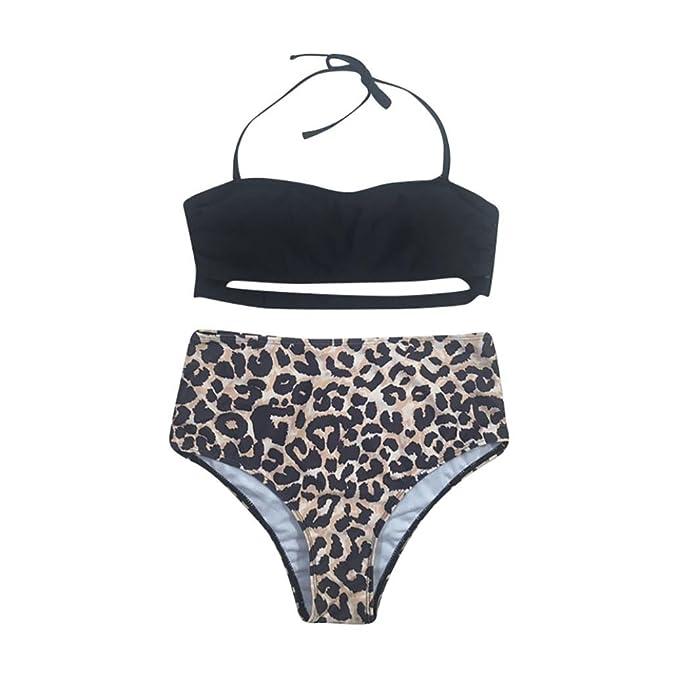SHOBDW Mujeres Sexy Traje de baño Bikini Leopardo Vendaje ...