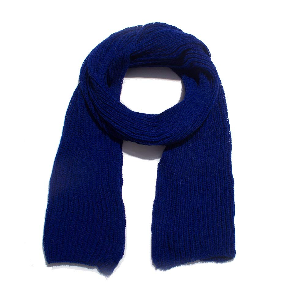 New autumn and winter acrylic pure color wool scarf