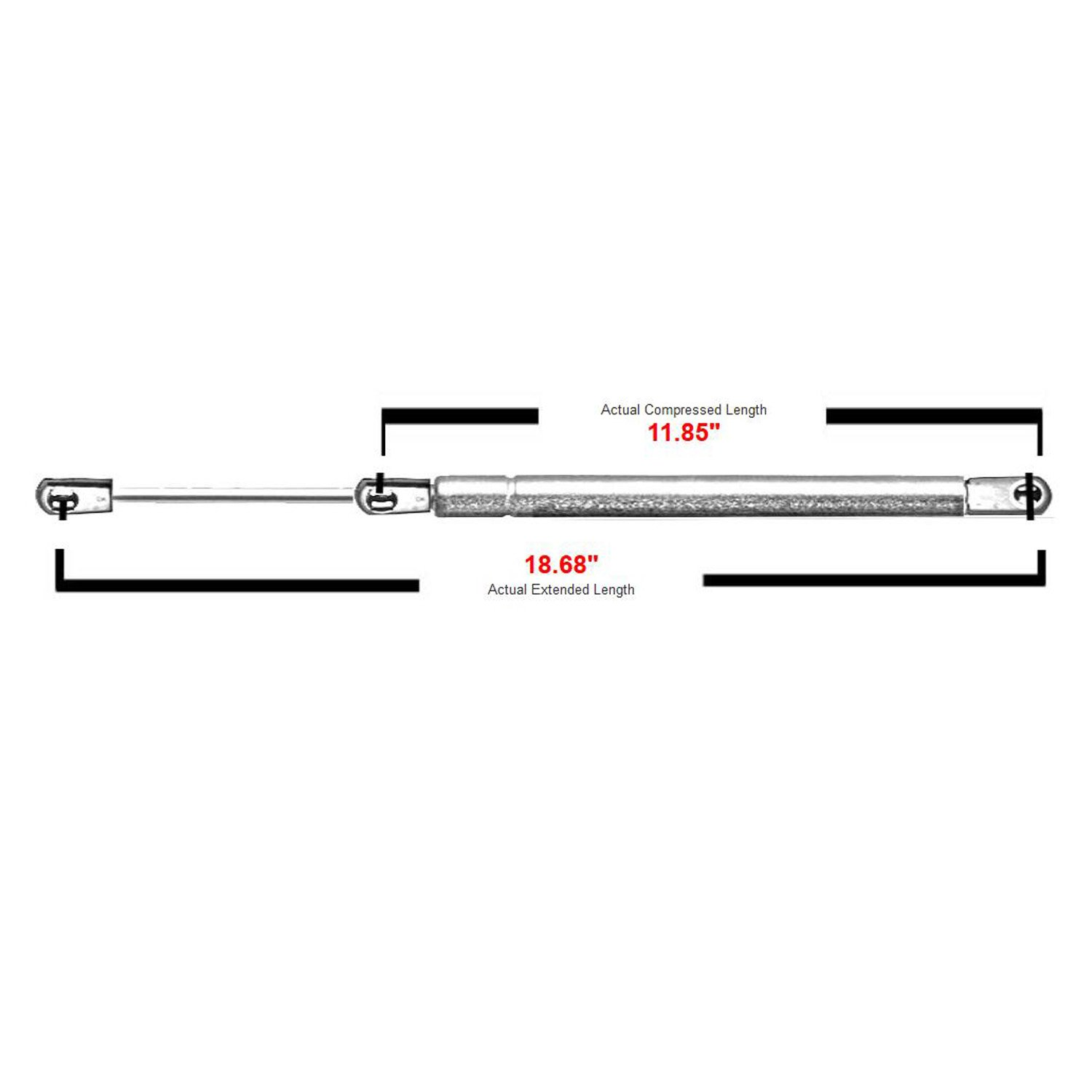 2 Pcs Front Hood Lift Supports Struts Rods Gas Springs For 2003-2006 Lincoln Navigator 6306 SG304075 TadaMark