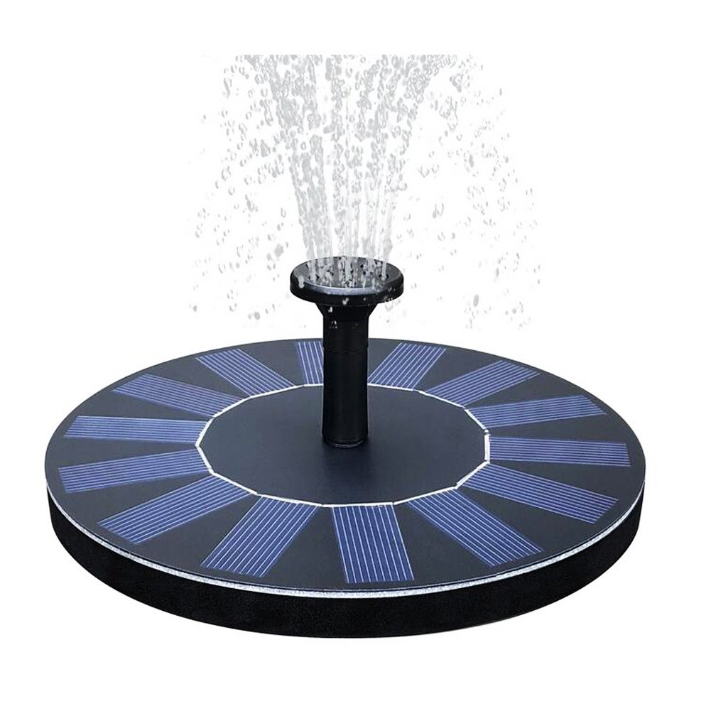 Jaklove Solar Fountain Pump without Battery,Floating Solar Panel Fountain for Garden