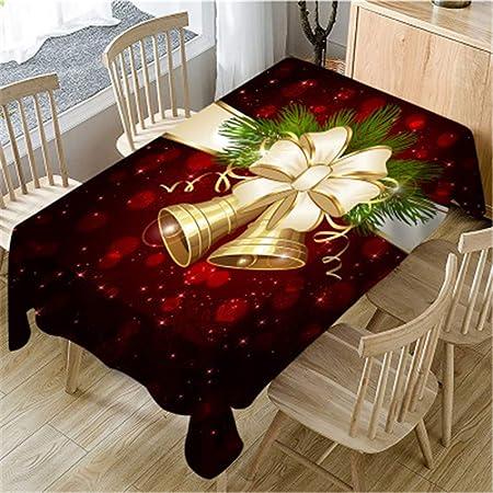 Nappe ronde Noël Facile à nettoyer de Noël Déco Or Blanc