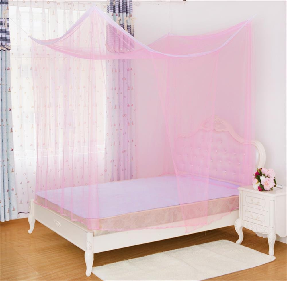 YAKER Bed Canopy Netting Mosquito Net Rectangular Curtains Bed Canopy Netting Fit Crib, Twin, Full, Queen, King