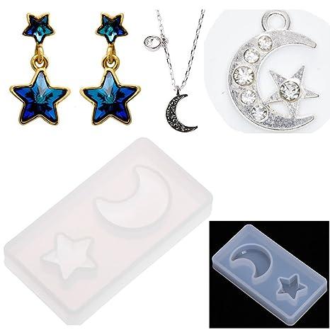Jiamins Moldes 3D de Silicona para Resina, joyería, Garra de Gatos, Luna geometría, Hecho a Mano, Arcilla de polímero de Resina, Herramienta de ...