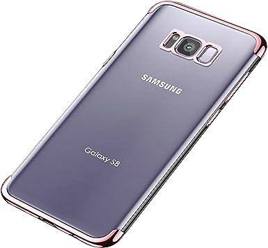 Qissy Samsung Galaxy S8 Carcasa 3 en 1 Ultra-Delgado Bumper Funda para Samsung Galaxy S8 Plus Galvanoplastia Casco Dura rígida TPU for Samsung Galaxy S8 / S8 + (Samsung Galaxy S8, Morado): Amazon.es: