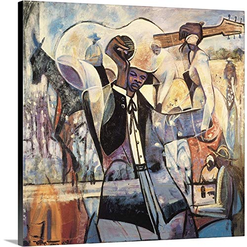 Blues Canvas Wall Art Print, 36 x36 x1.25