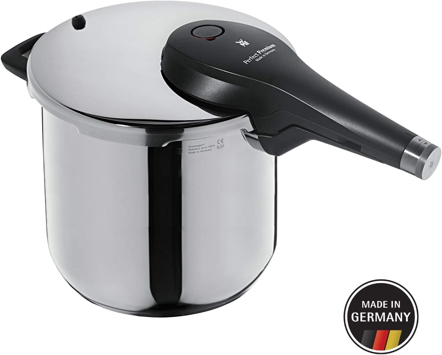 WMF Perfect Premium 6.5 L Pressure Cooker 22 cm, Stainless Steel, Transparent, 22 cm