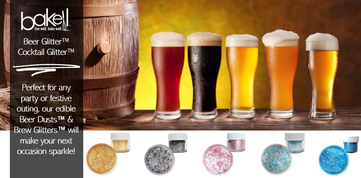 Rose Gold Beer & Beverage Glitter | 50 Gram Jar | Edible Food Grade Beer Glitter, Cocktail Glitter & Beverage Glitter-Dust from Bakell by Bakell (Image #8)