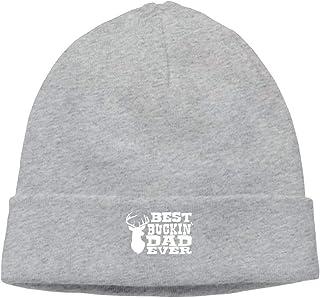 ASKYE Men's Best Buckin' Dad Ever Elastic Skiing Black Beanies Hat