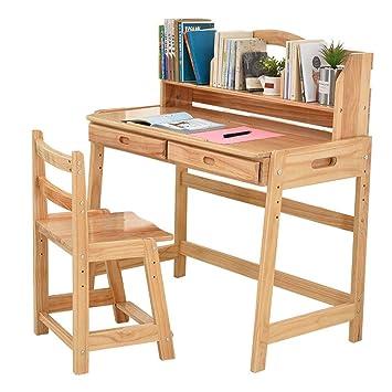 Juegos de mesas y sillas Mesa de Estudio para niños. Mesa de Escritorio de Madera