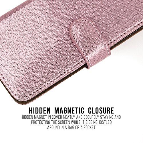 iPhone 6+/6S +/7+ en cuir, lavuel Folio Wallet Case Avec Fonction Support [RFID protection Blocking] [] [fentes pour cartes de crédit] [de fermeture magnétique] [Eco Faux portefeuille en cuir] Bling