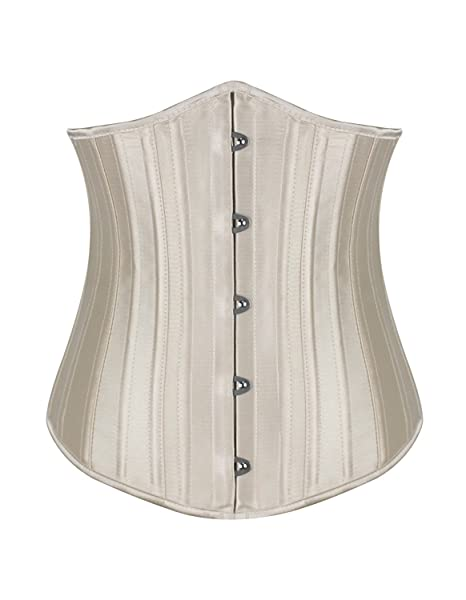 1a4aee17a4e Image Unavailable. Image not available for. Color  KIWI RATA Women s Satin Underbust  Corset Waist Training Cincher