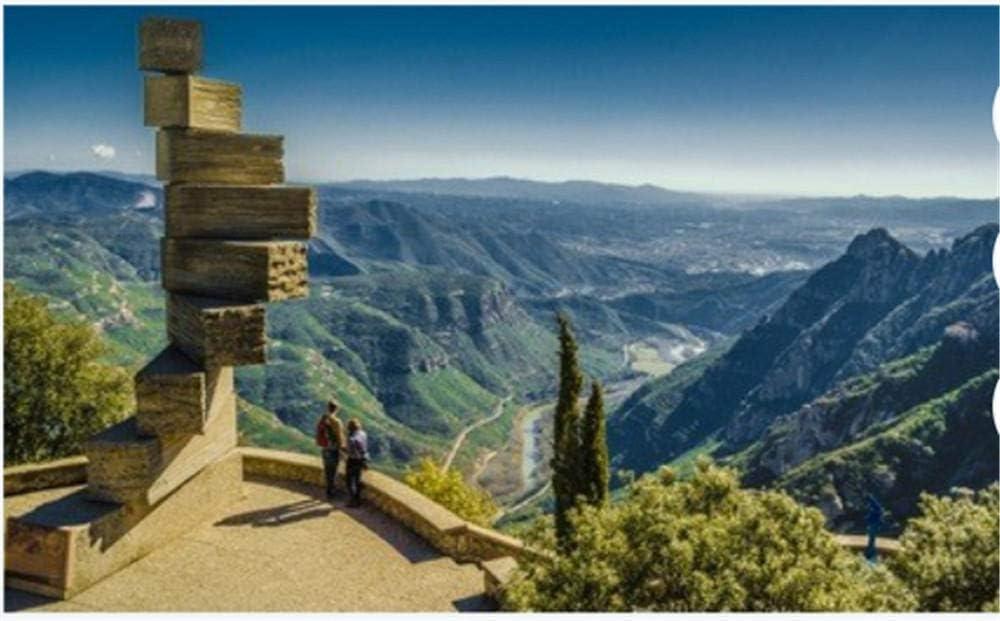 ZZXSY Puzzles De Madera 1000 Piezas Ocho 8 Escaleras Al Cielo En Montserrat En España Cerca De Barcelona Apto: Amazon.es: Hogar