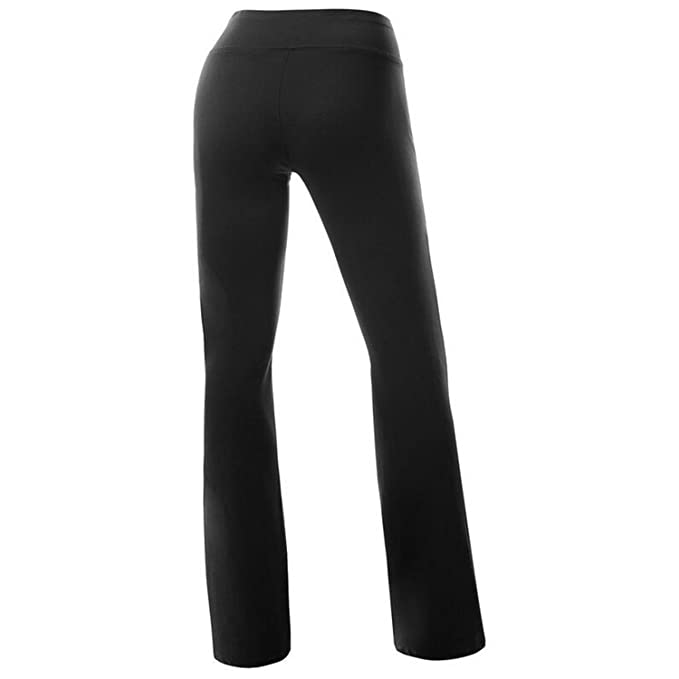 7a7fd8ff96b76a Women's Solid Boot Cut High Waisted Flare Yoga Pants Workout Casual Trousers  Comfortable Flared Leggings at Amazon Women's Clothing store: