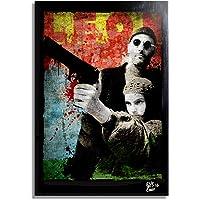Arthole.it Leon: The Professional - Quadro Pop-Art Originale con Cornice, Dipinto, Stampa su Tela, Poster, Locandina