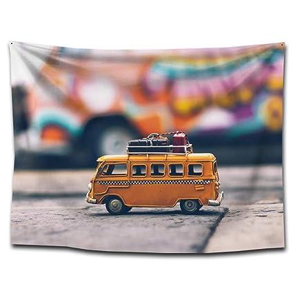 Axiba Tapices, Micro Coche impresión Tela Tapiz Toalla de Playa 150 * 130cm