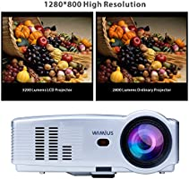 Proyector, Proyectores Full HD LED 3200 Lúmenes 1080P Video ...