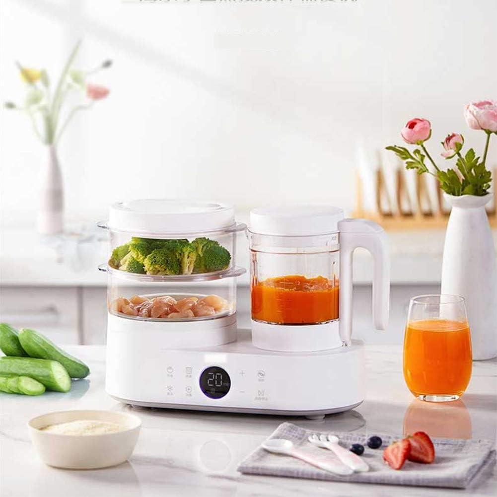ZJXYYYzj Robot de Cocina for bebés,Molinillo Steamer Self Limpia y el Reloj de Control de Apagado automático for el Hecho en casa Sano for bebés (Blanco): Amazon.es: Hogar