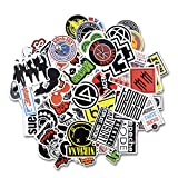 #3: Laptop Stickers [100 pcs], Bezgar Car Motorcycle Bicycle Luggage Decal Graffiti Skateboard Stickers for Laptop Bumper, Rock and Roll Music Stickers- Random Sticker Pack