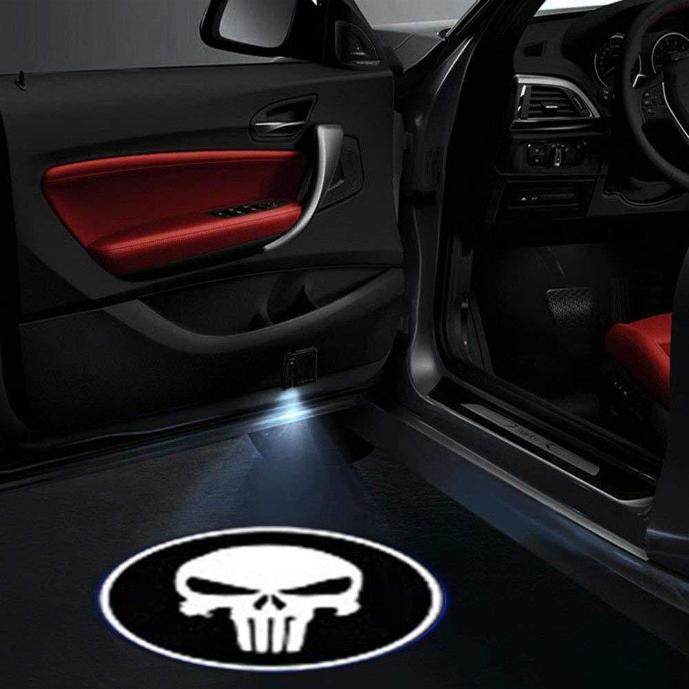 Universale Sensore Magnetico per Ombra Logo Light per Porta Auto LED Auto Proiezione Luce bone 4 pezzi Porta per Auto Welcome Batman Modello Shadow Light