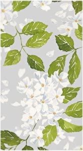 Caspari Blanc De Blancs Paper Guest Towel Napkins in Grey, Pack of 15