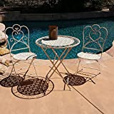 Cheap Modern Home Marseille Antiqued Iron 3pc Folding Bistro Set