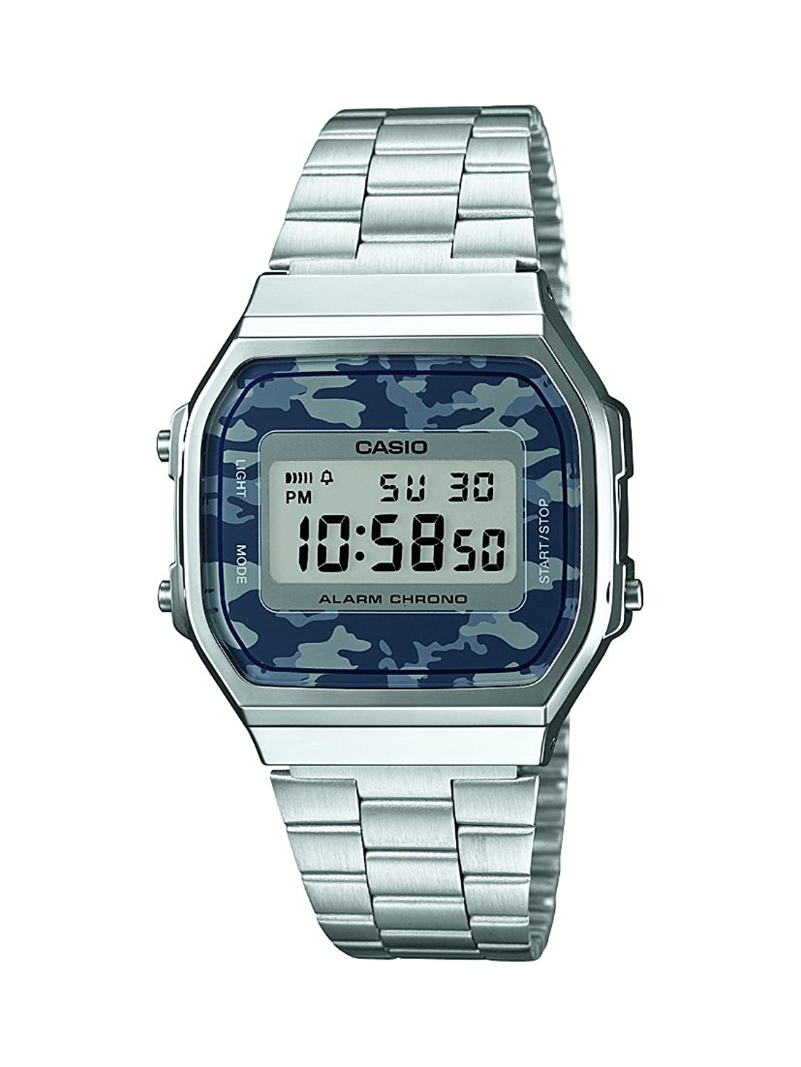 Casio Collection Reloj Digital Unisex con Correa de Acero Inoxidable – AWEC