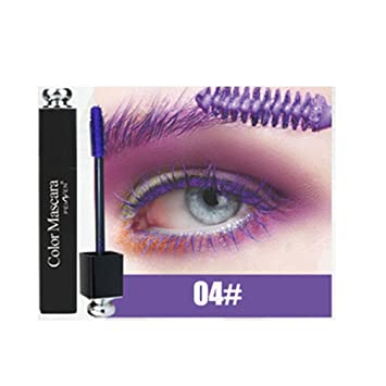 Brand Eye Lashes Mascara Makeup Waterproof Curling Lengthening Pigment Blue Red White Color Eyelash Mascara P1013