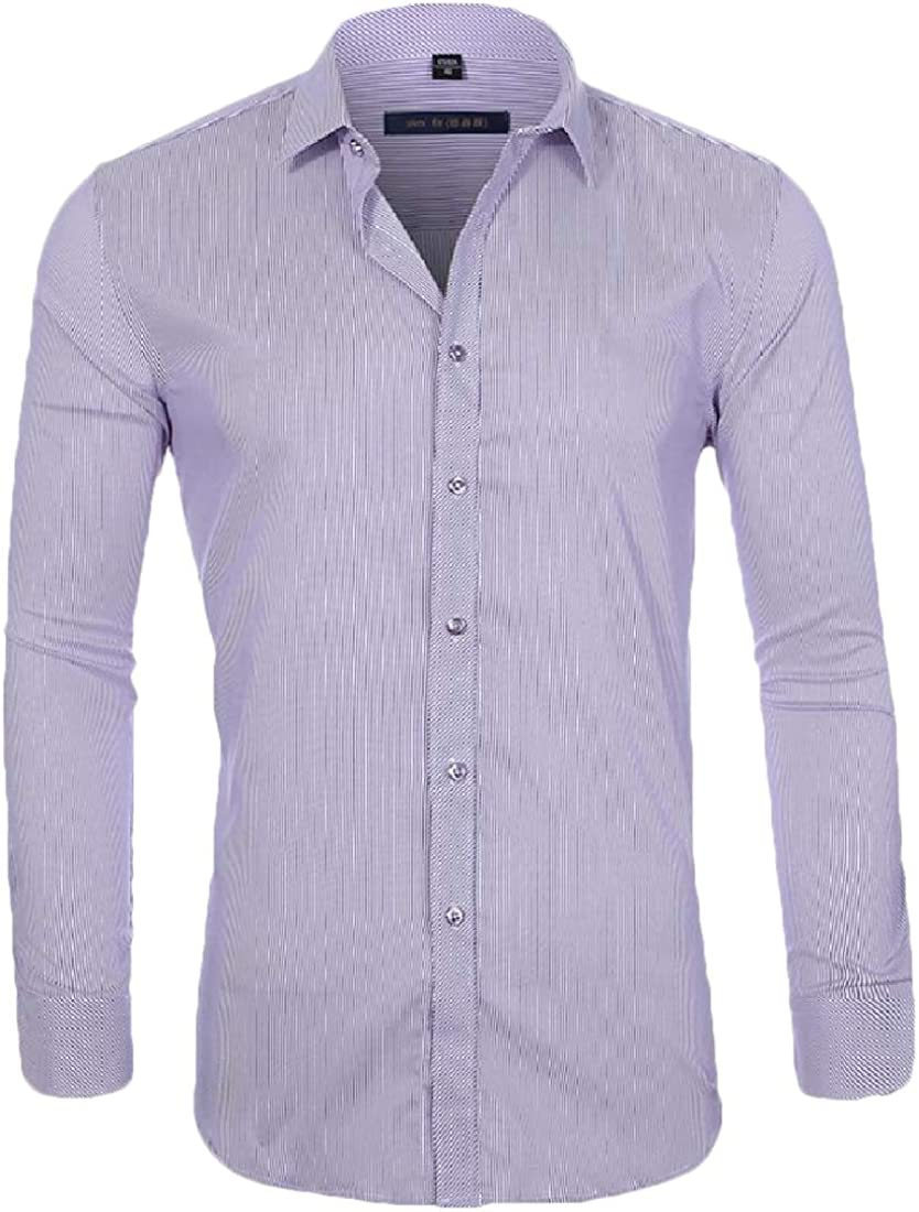 omniscient Mens Casual Regular Fit Button Down Tops Blouses Long Sleeve Solid Oxford Shirt