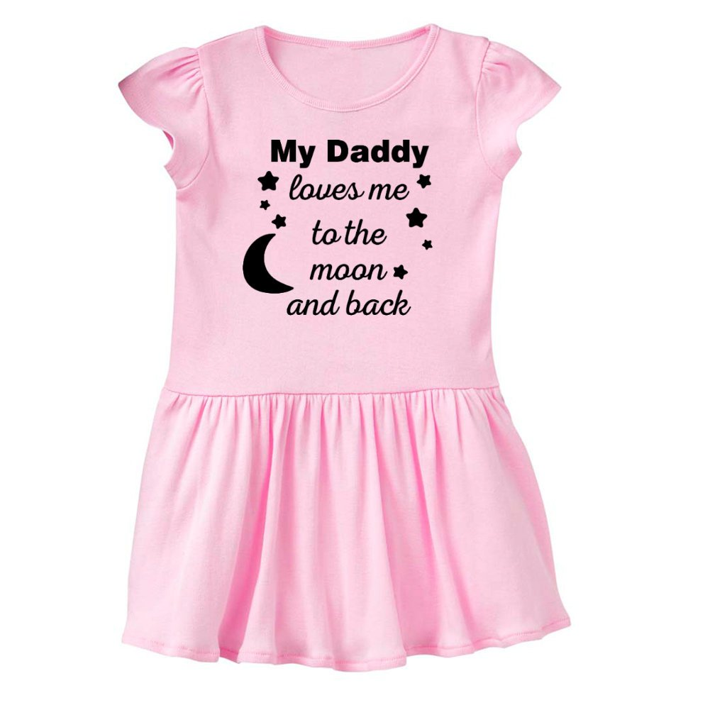 a66410bc5 Amazon.com: Mashed Clothing - My Daddy Loves Me to The Moon and Back - Daddy  Gift Father's Day - Baby Infant Dress: Clothing