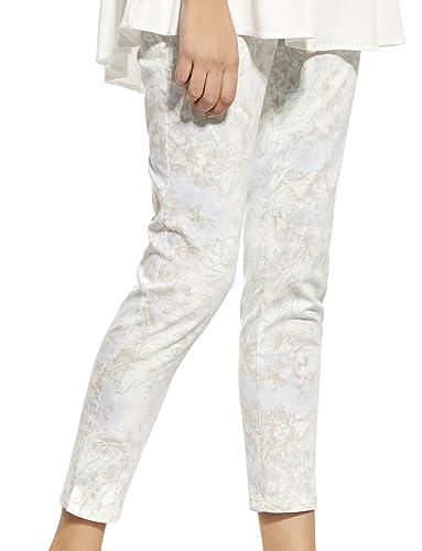 Ennywear 230024 Pantalones Largos Con Estampado Floral Para Mujeres - Hechos En La UE