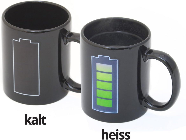 Animierte Kaffeetasse mit Akku-Batterie
