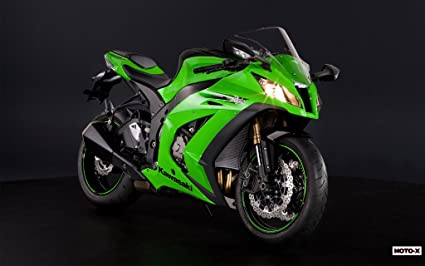 Amazon.com: Motorcycle Kawasaki Ninja Zx-10R 2011 07 - 24X36 ...