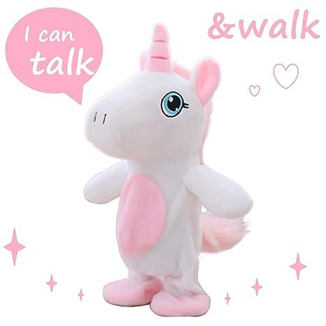 Amazon Com Talking Walking Unicorn Toys Plush Interactive Toys