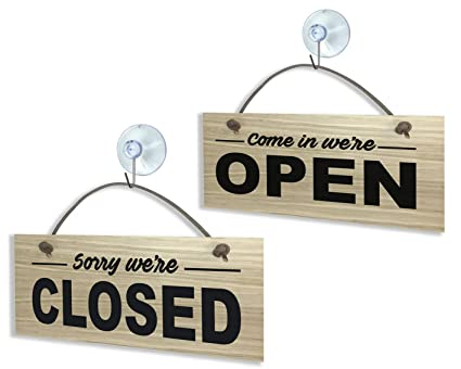 1091 Cartel abierto cerrado rígido de calidad chapado en ...